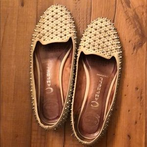 White Jeffrey Campbell Martini spiked flats